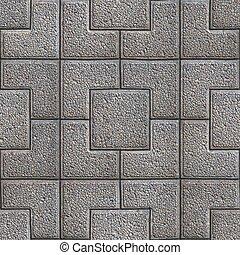 Granular Paving Slabs. Seamless Tileable Texture. - Gray...