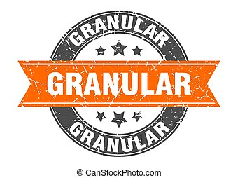 granular round stamp with ribbon. label sign - granular ...