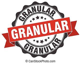 granular, signo., stamp., sello