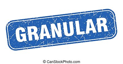 granular stamp. granular square grungy blue sign