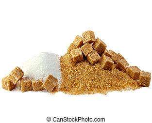 Granulated sugar, sugar not refined, sugar candy