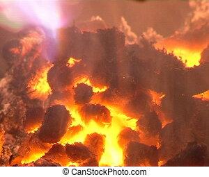 granules burn in boiler