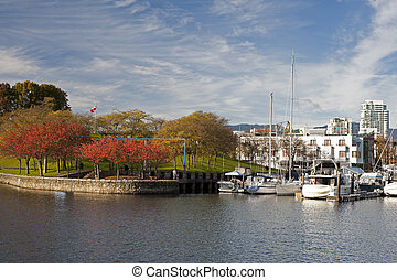 Granville Island in the fall