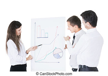 grap, businessmen., tabellen, erfolgreich, diskussionsrunde