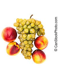 grape and peach