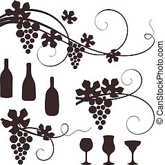 Grape design elements.