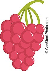 Grape icon, cartoon style