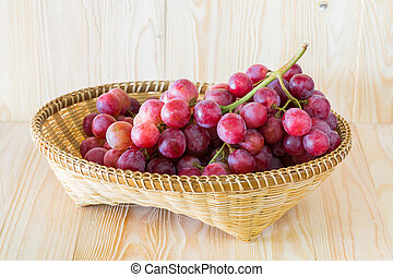 Grape in a fruit tray