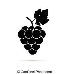 grape in black color illustration