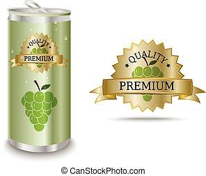 Grape juice label