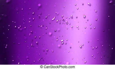 grape juice - the bubbles floating up in the liquid of soft...