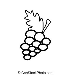 Grape line icon on a white background
