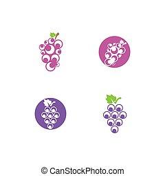 Grape logo template