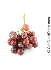 Grape on white background.