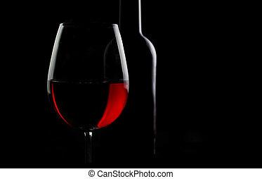 Grape red wine in a dark tone