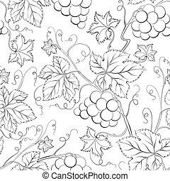 Grape Seamless Pattern.
