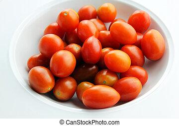 Grape Tomatoes - A bowl of grape tomatoes