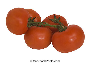 Grape tomatoes - Grape tomates with clipping path, isolated...