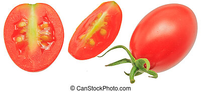 Grape Tomatoes isolated on White Background