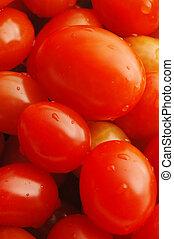 grape tomatoes macro