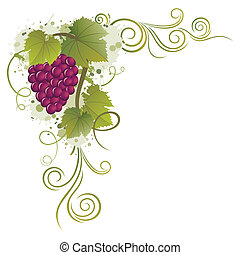grape vector borders