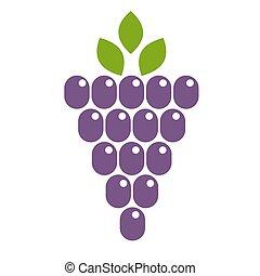 Grape vector icon illustration design.