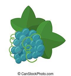 Grape Vector Illustration in Flat Design.