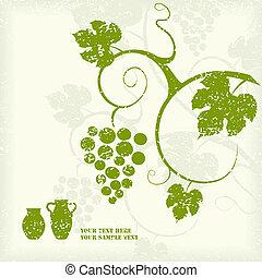 Grape vine background. Vector illustration.