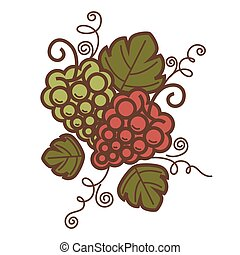 Grape vine vintage vector wine production or winemaking winery icon