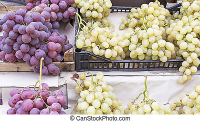 Wine grapes background