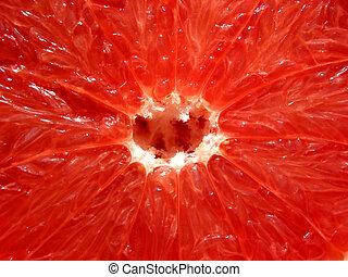 grapefrugt, rød, tekstur