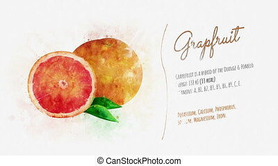 Grapefruit and its beneficial propertiesn a - The image of...