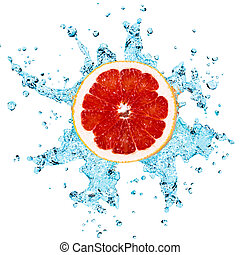 grapefruit and water