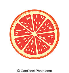 grapefruit citrus fruit over white background vector illustration