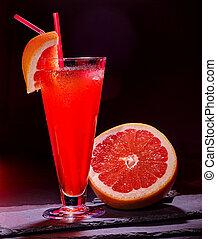 Grapefruit cocktail with umbrella 55. - Grapefruit cocktail ...