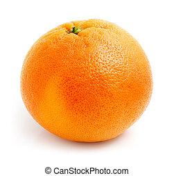 grapefruit, fehér, gyümölcs, elszigetelt, friss