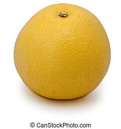A grapefruit on white background. Studio shot.