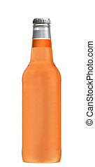 Grapefruit juice glass bottle