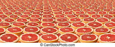 grapefruit., kromki