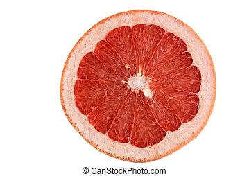 Grapefruit on white isolated background