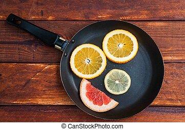 grapefruit, orange lemon