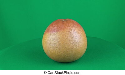 Grapefruit Rotating in Green Screen Chroma Key Matte