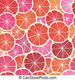 Grapefruit seamless big background