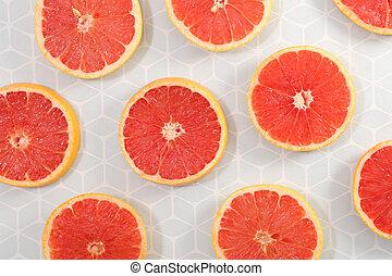 grapefruit slice background