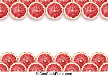 grapefruit slices frame