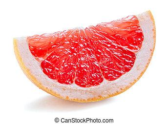 grapefruit, snede, rood