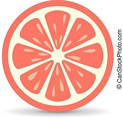 Grapefruit vector icon