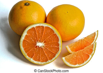 Grapefruits on a White Background