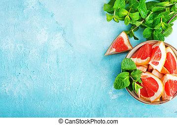 grapefrukt, och, juice
