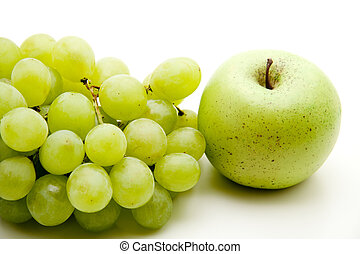 Grapes and apple - Bright grapes and brighter Apple